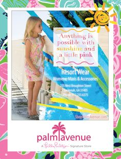 Advertising for Lilly Pulitzer. Photoshop and Illustrator with graphics tablet. #laurakerbyson #designer #photography #illustration #illustrator #graphics #photoshop #marketing #advertising #floridawebdevelopment #carolinawebdevelopment #design #laura #webdesign #emailmarketing #directmail #ad #artwork #magazine