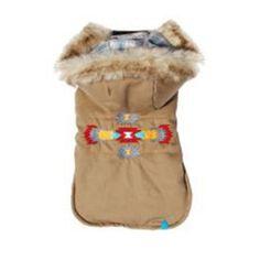 Navajo Dog Parka #dog #jacket #navajo #puffer #vest
