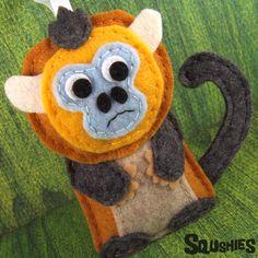 Xiulan the Golden Snub Nose - Felt Monkey, Handmade Christmas Ornament