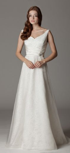 Jeanette / 288FA             Sweetheart with straps wedding dress featuring a wrap around sash. Wedding dress.  http://ariadress.com/portfolio-items/jeanette-288fa/?portfolioID=7