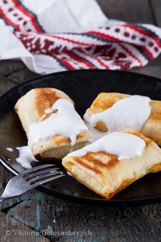 pancakes with minced meat or cottage cheese Блинчики с мясным или творожным фаршем по ГОСТу