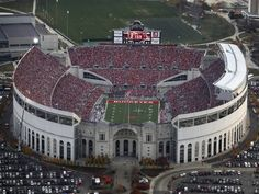 Aerial of Ohio Stadium, November Ohio State was playing Penn State in a game. Dispatch photo by Karl Kuntz as seen from Chopper 10 Ohio State Football, Ohio State University, Ohio State Buckeyes, Ohio State Stadium, The Buckeye State, Buckeyes Football, Oregon Ducks Football, Football Stadiums, College Football