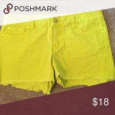 Jessica's Simpson lime denim shorts - Size 28 Fun color Jessica Simpson lime green shorts - low rise. Perfect condition Jessica Simpson Shorts