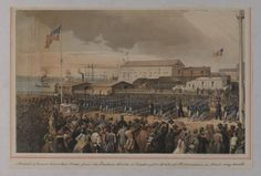Arrival of Union Volunteer Troops from the Eastern States at Washington Street Wharf, Philadelphia, on Their Way South; Collection of the Historical Society of Pennsylvania