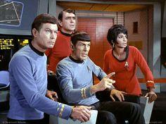 STAR TREK: Arena, 1967 |  Bones, Spock, Uhura, and Scott