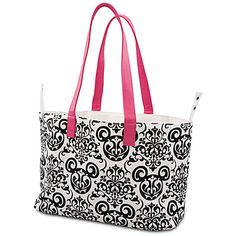 Damask Wallpaper Tote Bag -- White and Pink | Disney Parks Authentic | Disney Store
