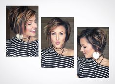 Bob haircuts are very popular in recent times with examples of every style and every age. Bob haircuts is really great solution for wash-and-go hair. Good Hair Day, Great Hair, Haircut And Color, Hair Images, Hair Today, Fall Hair, Hair Dos, Pretty Hairstyles, Short Hair Cuts