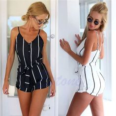 New Summer Sexy Women Celeb Floral Playsuit Party Evening Jumpsuit Shorts Romper #Unbranded #Jumpsuit