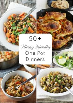 Allergy Friendly One-Pot Dinners compiled by WorthCooking.net (gluten free, dairy free, egg free, nut free, soy free)