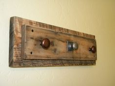 Cool barn wood coat rack and necklace holder