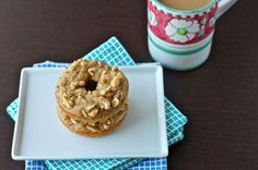 Old, mushy bananas taking up space on the kitchen counter? Make these Baked Banana Bread Doughnuts!
