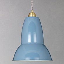 Buy Anglepoise Original 1227 Brass Maxi Pendant, Dusty Blue Online at johnlewis.com