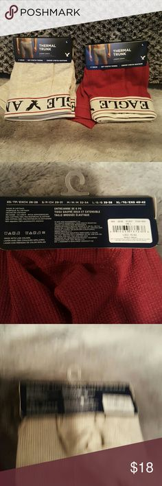 Ae Mens thermal trunks 2 pairs NWT mens thermal trunks American Eagle Outfitters Underwear & Socks Boxer Briefs
