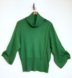 Anthropologie SPARROW KIMI TURTLENECK Sweater Sz L Kimono Sleeves Green  #Sparrow #Turtleneck