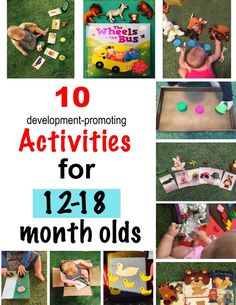 Developmental Activities for 12-18 Month Olds