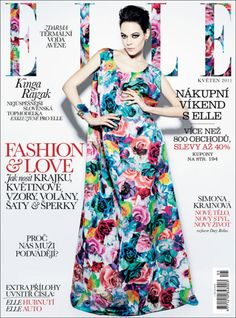 Elle Magazine Cover-love the way they took the pattern of the dress and used it in the type