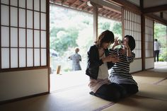 2011 Kyoto, Japan by Benny(I am empty), via Flickr | street scene people + architecture + brown green blue white