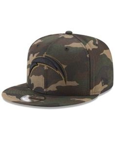 New Era Los Angeles Chargers Camo on Canvas 9FIFTY Snapback Cap - Green Adjustable