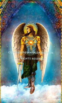 This is a larger print of the front of the Saint Archangel Michael card, designed by Matylda Biedron, that is absolutely perfect for
