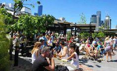 Melbourne's Best Spots for Enjoying the Spring Sun Beer Garden, Best Beer, Rooftop, Melbourne, Dolores Park, Street View, Yard, Sun, Spring