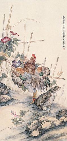 刘奎龄工笔画鸡精选 - 天际凡尘 - 天际凡尘