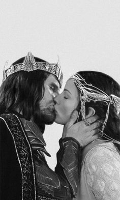 The reunion of Aragorn and Arwen