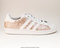 Champagne Gold Sequin Adidas Superstars II by princesspumps