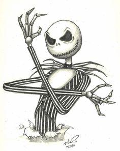 Fall Drawings, Dark Art Drawings, Halloween Drawings, Art Drawings Sketches, Drawing Art, Style Tim Burton, Tim Burton Art, Tim Burton Films, Jack Skellington Drawing