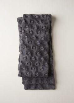 08253863d18a Reversible Rivulet Scarf in Trout Brown   Purl Soho Echarpe, Tricot Et  Crochet, Foulards