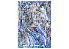 Original illustration love elf elves fantasy elven art