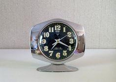 Vintage Mechanical Clock  Shangai alarm by EphemereIntemporel
