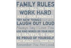 Family Rules, Navy on Gray on OneKingsLane.com