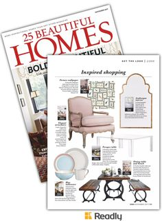 Suggestion about 25 Beautiful Homes Magazine Nov 2017 page 111 25 Beautiful Homes, House And Home Magazine, Get The Look, Kitchens, Gallery Wall, Elegant, Wallpaper, Frame, Inspiration