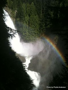 I captured a rainbow at Wallace Falls State Park.