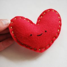 wild olive // simple heart plush // perfect for operation christmas child shoeboxes