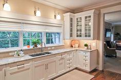 White kitchen. Love the floors.