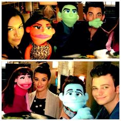 """Me, @NayaRivera, @adamlambert, @chriscolfer and our friends:) #GleeSeason5"""
