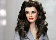 custom repaint of 12-inch Brooke Shields doll (by Noel Cruz) | Flickr - Photo Sharing!