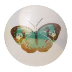 Small Blue Butterfly Drawer Pull