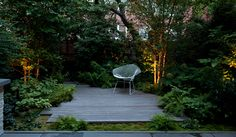 Brooklyn Heights townhouse in Brooklyn, New York. Designed by New York firm Robin Key Landscape Architecture.
