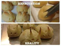 Expectation vs Reality - Easter Bunny Buns
