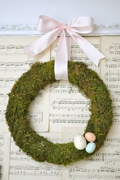 diy moss wreath.