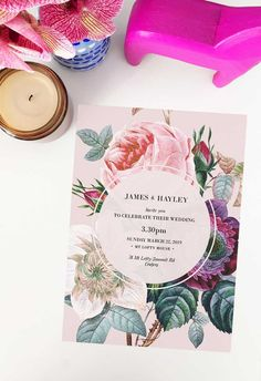 This blush floral wedding invitation by Sail and Swan Studio features beautiful roses, flowers and florals with green leaves on a pale blush pink background. They are perfect for an outdoor wedding such as a garden, forest, beach or woodland wedding, but also have a modern look and feel that makes them versatile across the board for any floral or botanical theme. Botanical Wedding Theme, Botanical Wedding Invitations, Floral Invitation, Floral Bouquets, Wedding Bouquets, Wedding Invitations Australia, Blush Pink Weddings, Woodland Wedding, Beautiful Roses