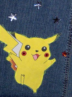 Pokemon Applique Jeans by LolidollDiy on Etsy, $45.00