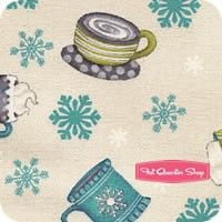 All Bundled Up Ivory Cocoa Toss Yardage <br/>SKU