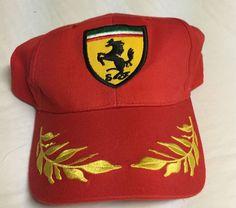 Ferrari Official Red Gold Leaf Adjustable Hat Cap