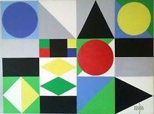 MUST  ACCEPT  $1500 OFFER !!!  Jean Nerfin Modernist Mid-Century Abstract CA Art