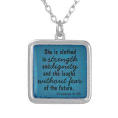 Shop Strength and Dignity Proverbs Necklace created by LPFedorchak.