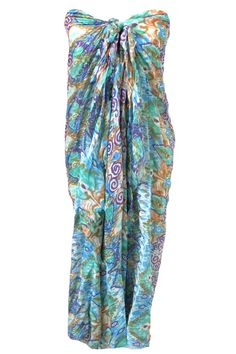 Spun by Subtle Luxury Day Dreamer Sarong Wrap in Aqua