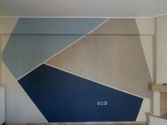 Geometrical painted wall